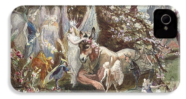 Titania And Bottom IPhone 4 Case by John Anster Fitzgerald