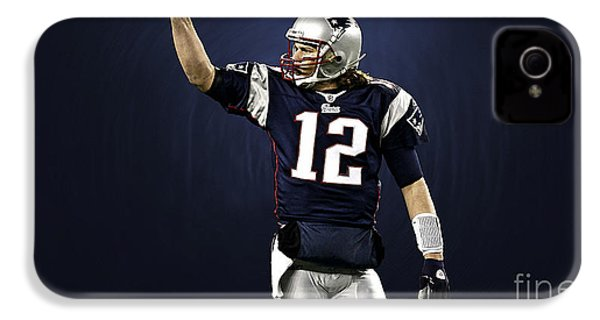 Tom Brady IPhone 4 Case by Marvin Blaine