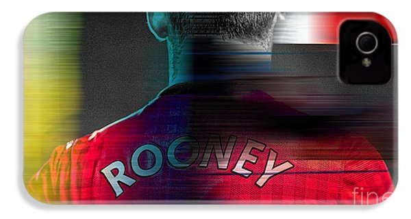 Wayne Rooney IPhone 4 / 4s Case by Marvin Blaine