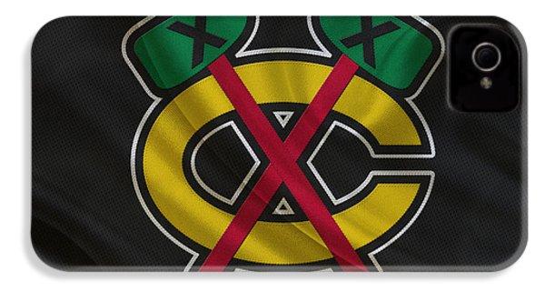 Chicago Blackhawks IPhone 4 Case by Joe Hamilton