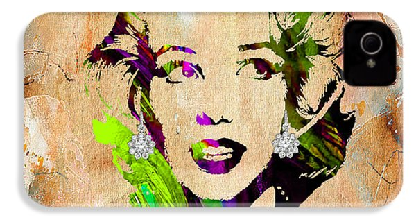 Marilyn Monroe Diamond Earring Collection IPhone 4 Case by Marvin Blaine