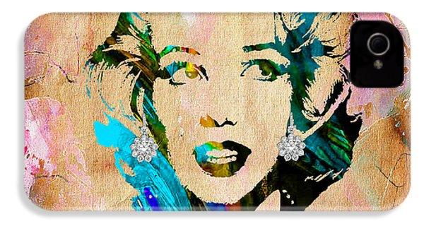 Marilyn Monroe Diamond Earring Collection IPhone 4 Case
