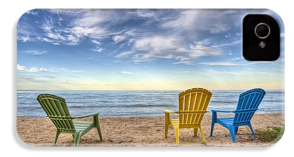 3 Chairs IPhone 4 Case by Scott Norris
