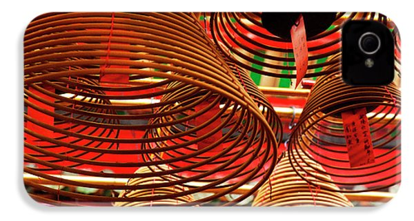 China, Hong Kong, Spiral Incense Sticks IPhone 4 Case by Terry Eggers