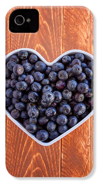 Fresh Picked Organic Blueberries IPhone 4 Case by Teri Virbickis