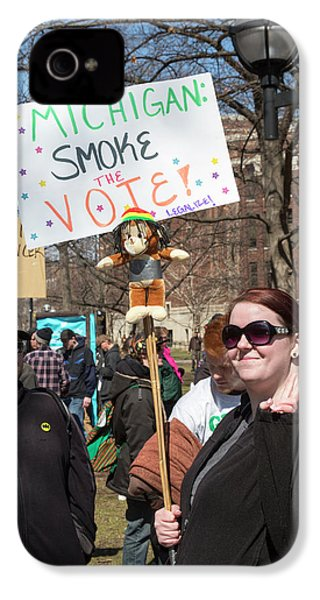 Legalisation Of Marijuana Rally IPhone 4 Case by Jim West
