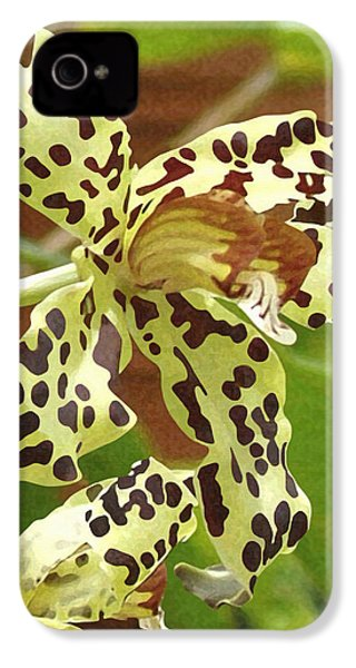 Leopard Orchids IPhone 4 Case