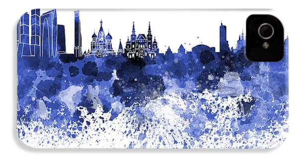 Moscow Skyline White Background IPhone 4 Case by Pablo Romero
