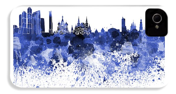 Moscow Skyline White Background IPhone 4 Case