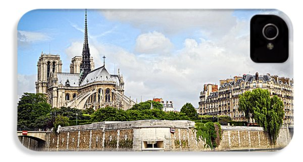 Notre Dame De Paris IPhone 4 / 4s Case by Elena Elisseeva