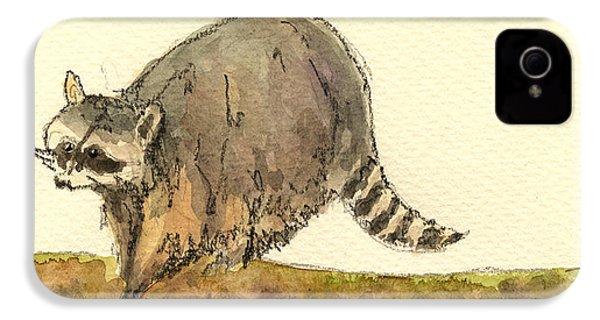 Raccoon IPhone 4 / 4s Case by Juan  Bosco