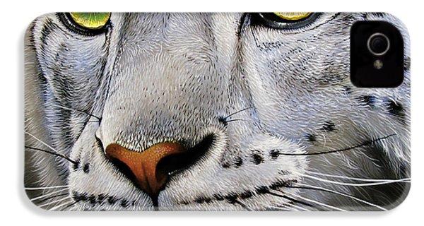 Snow Leopard IPhone 4 Case by Jurek Zamoyski