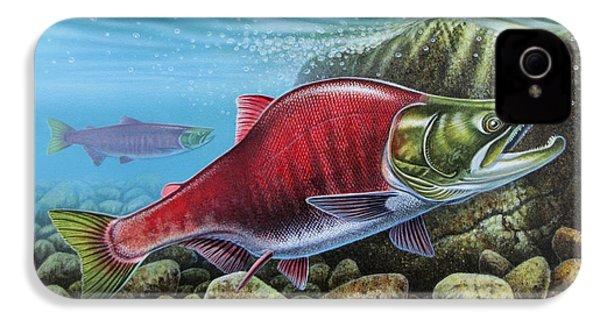 Sockeye Salmon IPhone 4 Case by JQ Licensing