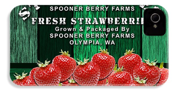 Strawberry Farm IPhone 4 / 4s Case by Marvin Blaine