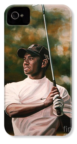 Tiger Woods  IPhone 4 / 4s Case by Paul Meijering