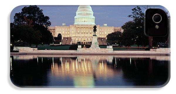 Usa, Washington Dc, Capitol Building IPhone 4 Case by Walter Bibikow
