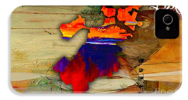 Boston Map Watercolor IPhone 4 / 4s Case by Marvin Blaine