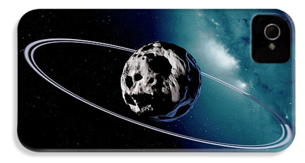 Chariklo Minor Planet And Rings IPhone 4 Case by Detlev Van Ravenswaay