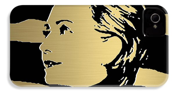 Hillary Clinton Gold Series IPhone 4 Case by Marvin Blaine