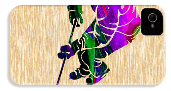 Ice Hockey IPhone 4 / 4s Case by Marvin Blaine