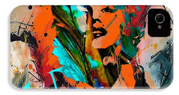 Marilyn Monroe Painting IPhone 4 Case by Marvin Blaine