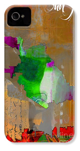 San Jose Map And Skyline IPhone 4 / 4s Case by Marvin Blaine
