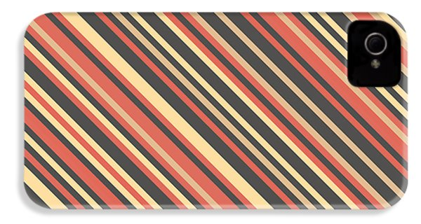 Striped Pattern IPhone 4 Case by Mike Taylor