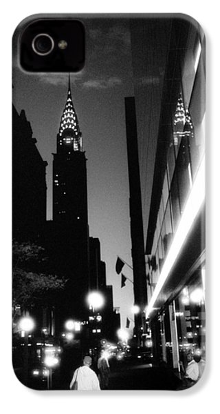 IPhone 4 Case featuring the photograph 42nd-street-dawn by Dave Beckerman