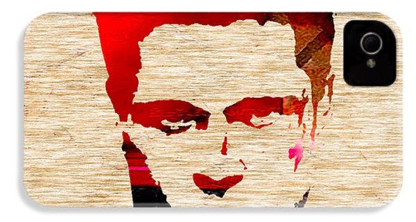 Brad Pitt IPhone 4 Case by Marvin Blaine