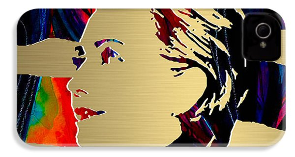Hillary Clinton Gold Series IPhone 4 / 4s Case by Marvin Blaine