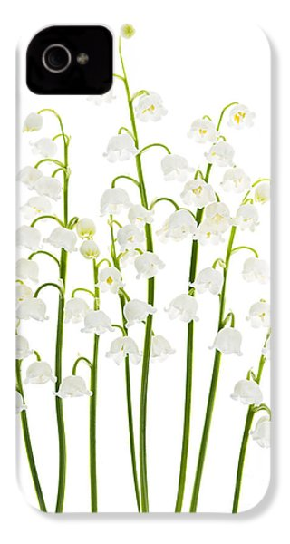 Lily-of-the-valley Flowers  IPhone 4 Case by Elena Elisseeva