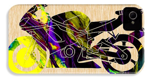 Ninja Motorcycle Painting IPhone 4 / 4s Case by Marvin Blaine