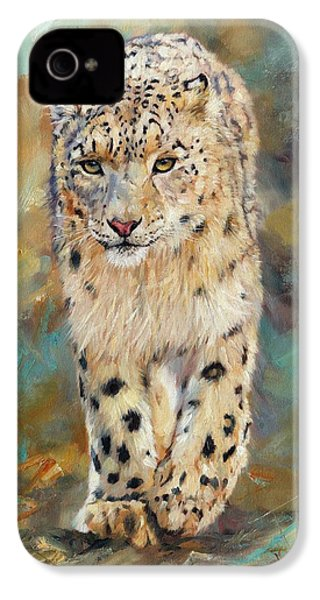Snow Leopard IPhone 4 / 4s Case by David Stribbling