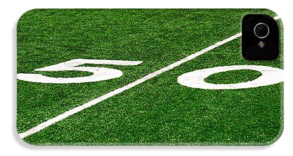 50 Yard Line On Football Field IPhone 4 Case