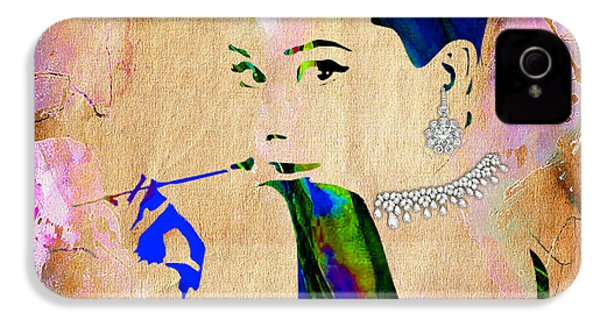 Audrey Hepburn Diamond Collection IPhone 4 / 4s Case by Marvin Blaine