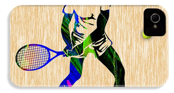 Mens Tennis IPhone 4 / 4s Case by Marvin Blaine