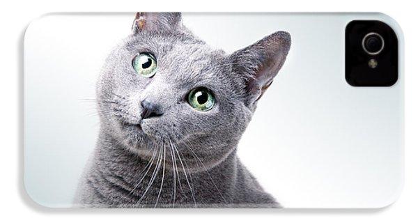 Russian Blue Cat IPhone 4 Case
