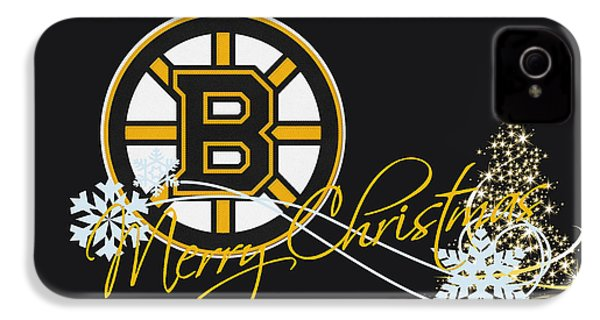Boston Bruins IPhone 4 Case by Joe Hamilton