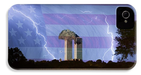 9-11 We Will Never Forget 2011 Poster IPhone 4 Case by James BO  Insogna