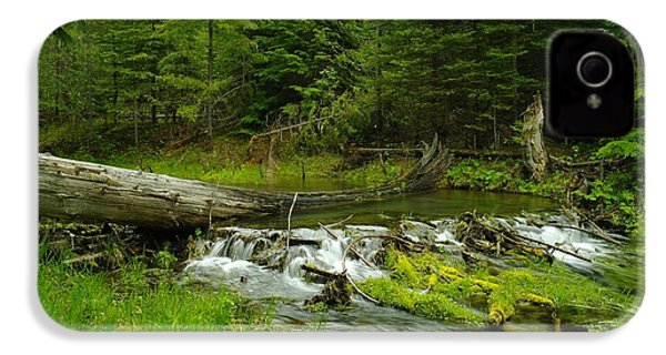 A Beaver Dam Overflowing IPhone 4 Case by Jeff Swan