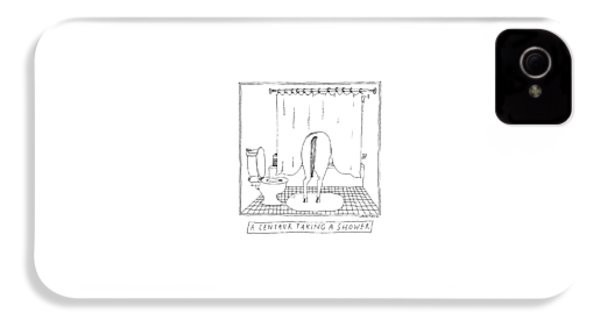 A Centaur Taking A Shower -- The Horse's Rear End IPhone 4 Case by Liana Finck