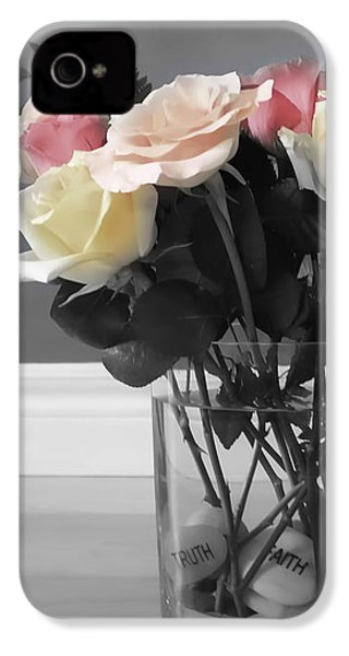 A Foundation Of Love IPhone 4 Case by Cathy  Beharriell