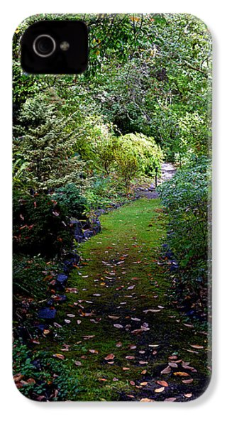 IPhone 4 Case featuring the photograph A Garden Path by Anthony Baatz