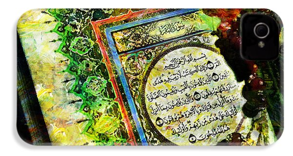 A Page From Quran IPhone 4 Case by Catf