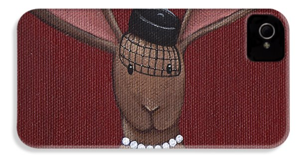 A Sophisticated Bunny IPhone 4 Case by Christy Beckwith