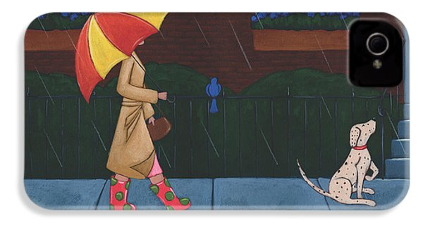 A Walk On A Rainy Day IPhone 4 Case by Christy Beckwith