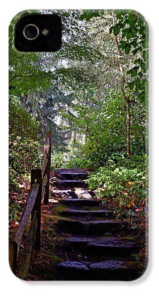 IPhone 4 Case featuring the photograph A Wooded Path by Anthony Baatz