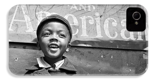 A Young Harlem Newsboy IPhone 4 Case by Underwood Archives