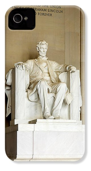 Abraham Lincolns Statue In A Memorial IPhone 4 / 4s Case by Panoramic Images