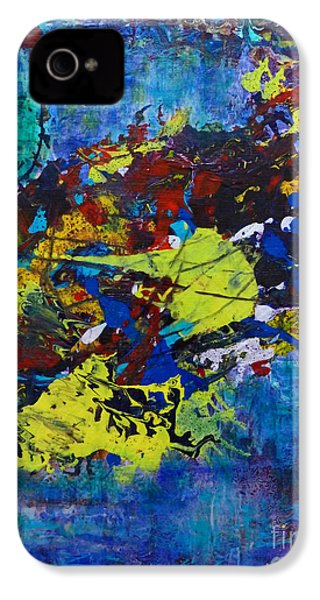 IPhone 4 Case featuring the painting Abstract Fish  by Claire Bull